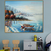 Coast Modern Seascape Nature Palette Knife Effigy for Kids Room Wall Decor