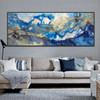 Golden Waves Abstract Modern Bold Texture Handmade Canvas Portrayal for Home Wall Ornament
