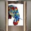 Elephant Face Animal Modern Heavy Texture Knife Effigy for Wall Getup