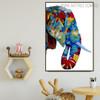 Elephant Face Animal Modern Heavy Texture Knife Effigy for Wall Decor