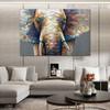 Jumbo Framed Animal Bold Texture Palette Knife Painting for Living Room Wall Decor