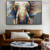 Jumbo Framed Animal Bold Texture Palette Knife Painting for Lounge Room Wall Trimming
