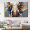 Jumbo Framed Animal Bold Texture Palette Knife Painting for Room Wall Equipment