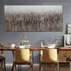 Dark Shade Abstract Modern Panoramic Acrylic Vignette for Dining Room Wall Flourish