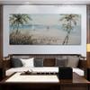 Beach Modern Panoramic Seascape Handmade Nature Likeness for Living Room Wall Getup