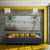 Beach Modern Panoramic Seascape Handmade Nature Likeness for Room Wall Ornament