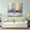 Winter Forest Landscape Handmade Nature Painting for Living Room Wall Outfit
