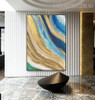 Golden Art Abstract Modern Heavy Texture Handpainted Canvas for Wall Hanging Decor