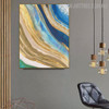 Golden Art Abstract Modern Heavy Texture Handpainted Canvas for Living Room Wall Equipment