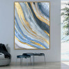 Calico Artwork Abstract Modern Bold Texture Acrylic Painting for Wall Decoration