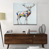 Colorful Deer Abstract Animal Contemporary Knife Painting on Canvas for Home Wall Finery