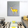 Deer Plant Floral Animal Modern Canvas Wall Art for Living Room Wall Getup