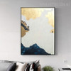 Blue Hills Abstract Modern Heavy Texture Handmade Canvas Artwork for Home Wall Outfit