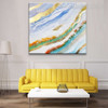 Wave Abstract Modern Heavy Texture Acrylic Painting for Living Room Wall Getup