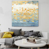 Gold Spots Abstract Modern Handmade Canvas Art for Interior Decoration