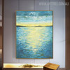 Seascape Abstract Modern Heavy Texture Handmade Nature Painting for Diy Wall Decor