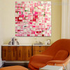 Pink Abstract Modern Heavy Texture Knife Painting on Canvas for Wall Getup