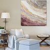 Hued Lines Abstract Heavy Texture Canvas vignette for Living Room Wall Adornment