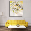 White Flowers Handpainted Canvas for Floral Interior Design