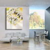 White Flowers Modern Floral Handpainted Canvas for Home Wall Getup