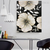 Blossoms Contemporary Floral Texture Handmade Nature Smudge for Dining Room Wall Moulding