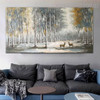 Rose Foliage Modern Floral Heavy Texture Handmade Oil Painting for Living Room Wall Decor