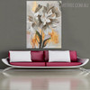 Abstract Flower Floral Modern Heavy Texture Oil Effigy on Canvas for  Living Room Wall Flourish
