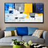 Cerulean Abstract Modern Heavy Texture Knife Portrayal for Wall Hanging Decor