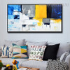 Cerulean Abstract Modern Heavy Texture Knife Portrayal for Wall  Molding