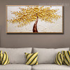 Yellow Blossoms Abstract Modern Floral Texture Knife Effigy for Lounge Room Wall Adornment
