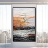Lakeside Abstract Contemporary Bold Texture Handmade Nature Portraiture for Wall Decoration