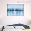 Shore Abstract Modern Heavy Texture Handmade Canvas Art for Bedroom Wall Garnish