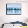 Shore Abstract Modern Heavy Texture Handmade Canvas Art for Bedroom Wall Garnish