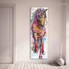 Hued Horse Animal Framed Modern Texture Handmade Canvas Art for Home Wall Drape