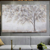 Winter Texture Framed Handmade Nature Painting for Interior Decoration