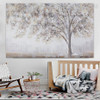 Winter Texture Framed Handmade Nature Painting for Room Wall Getup