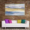 Golden Heaven Abstract Framed Heavy Texture Handmade Oil Effigy for Diy Wall Decor
