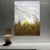 Bush Abstract Framed Bold Texture Oil Vignette on Canvas for Living Room Wall Garnish
