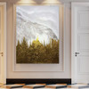 Bush Abstract Framed Bold Texture Oil Vignette on Canvas for Room Interior Design