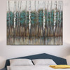 Forest Trees Abstract Modern Framed Heavy Texture Handmade Nature Painting for Bedroom Wall Moulding
