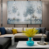Riverbank Abstract Modern Framed Heavy Texture Handmade Oil Vignette for Living Room Wall Assortment
