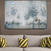 Riverbank Abstract Modern Framed Heavy Texture Handmade Oil Vignette for Wall Decoration
