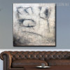 Eyes Abstract Contemporary Framed Heavy Texture Oil Vignette on Canvas for Room Interior Design
