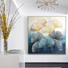 Line Leaves Abstract Modern Framed Botanical Heavy Texture Handpainted Canvas for Living Room Wall Getup