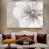 Big Petal Flower Abstract Modern Floral Framed Painting for Room Wall Outfit