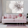 Big Petal Flower Abstract Modern Floral Framed Painting for Living Room Wall Ornamentation