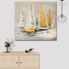 River Sailboat Abstract Framed Handmade Nature Portmanteau for Room Wall Trimming