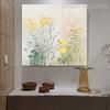 Little Blooms Abstract Modern Framed Handmade Canvas Art for Room Wall Flourish