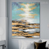 Blue Sky Framed Handmade Oil Portraiture for Lounge Room Wall Outfit
