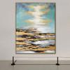 Blue Sky Framed Handmade Oil Portraiture for Room Wall Garnish
